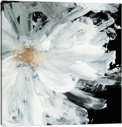 Black Peony Canvas Art Print