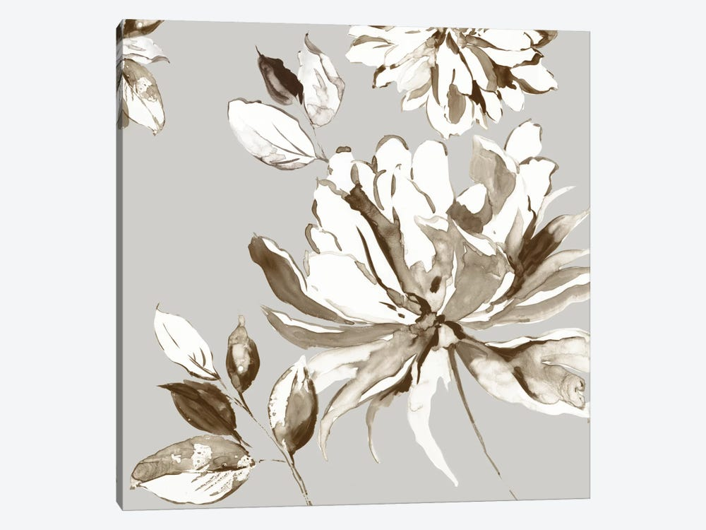 Botanical Gray I by Asia Jensen 1-piece Canvas Wall Art