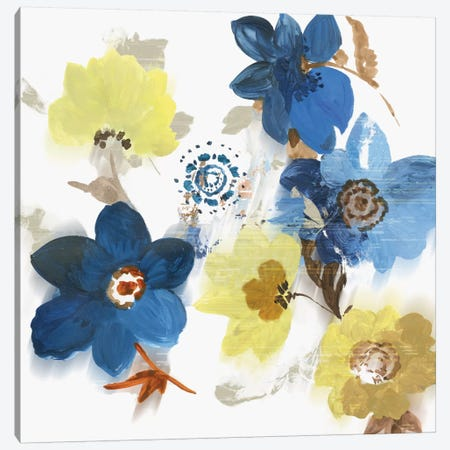 Glitchy Floral II Canvas Print #ASJ339} by Asia Jensen Canvas Art