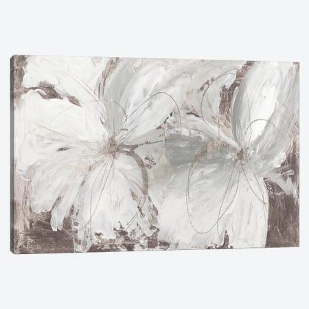 Silver Floral Canvas Print #ASJ342} by Asia Jensen Canvas Art Print
