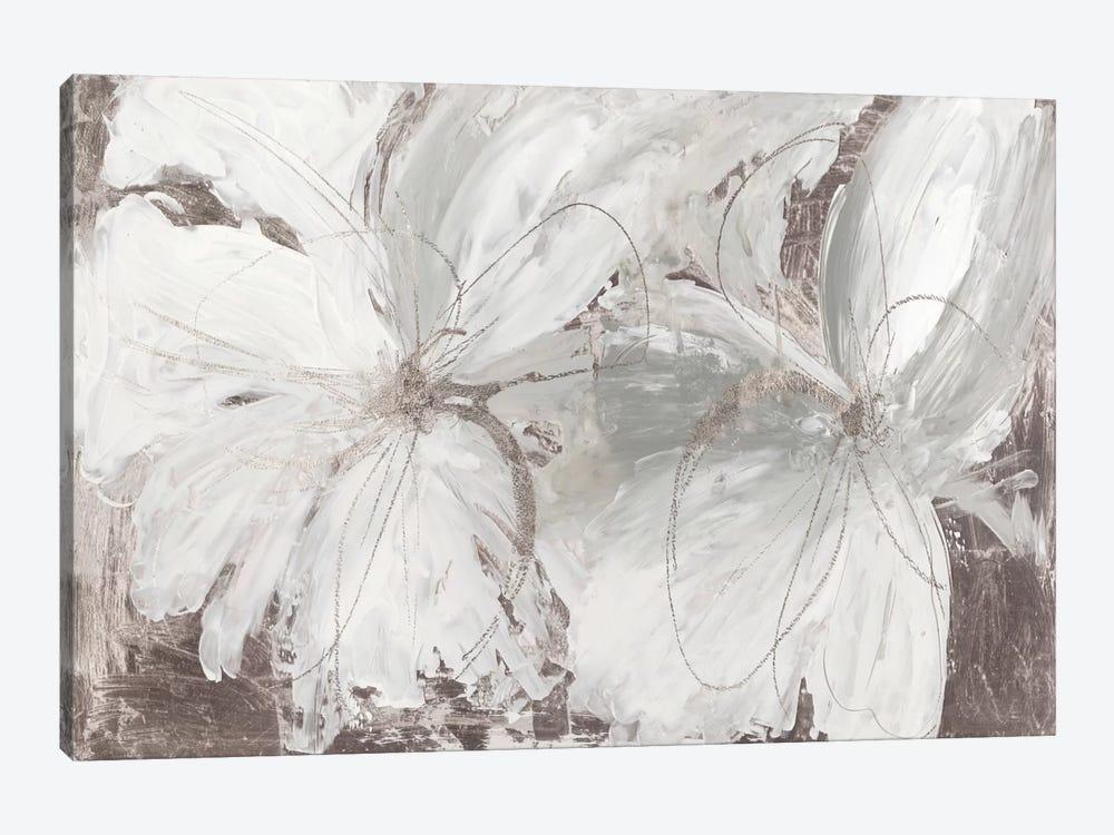 Silver Floral by Asia Jensen 1-piece Canvas Print