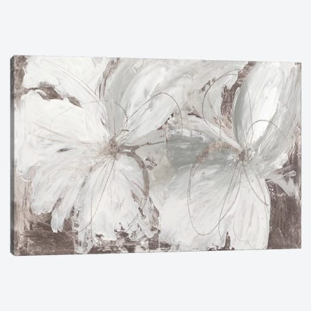 Silver Floral Canvas Print #ASJ342} by Asia Jensen Canvas Art Print