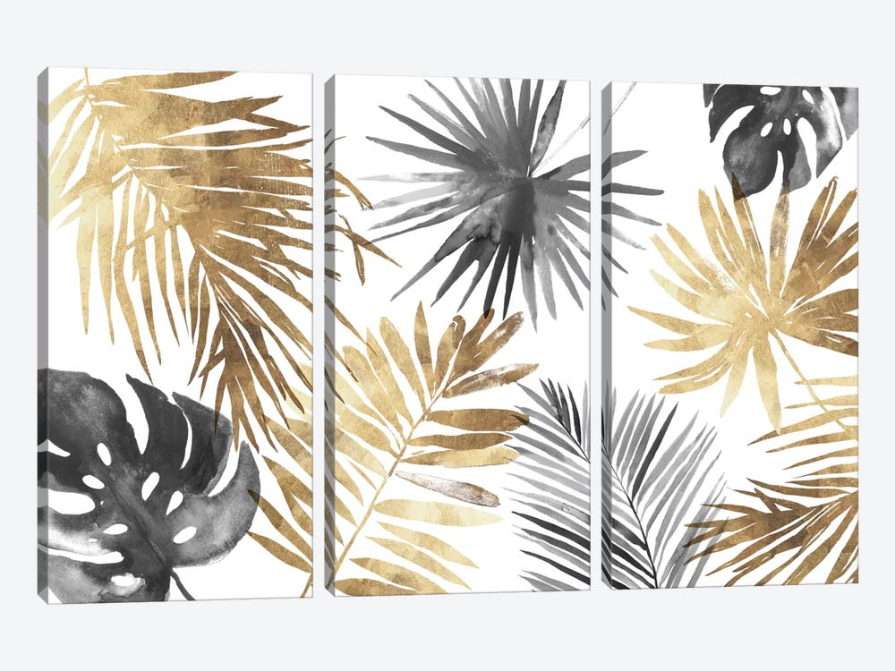 Tropical Palms I by Asia Jensen 3-piece Canvas Print