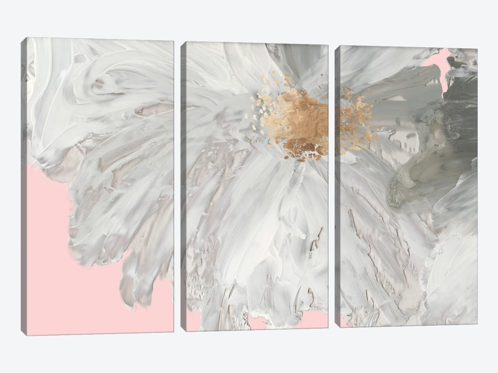 White Peony by Asia Jensen 3-piece Canvas Print