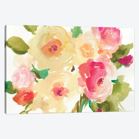 Yellow Roses Canvas Print #ASJ349} by Asia Jensen Art Print