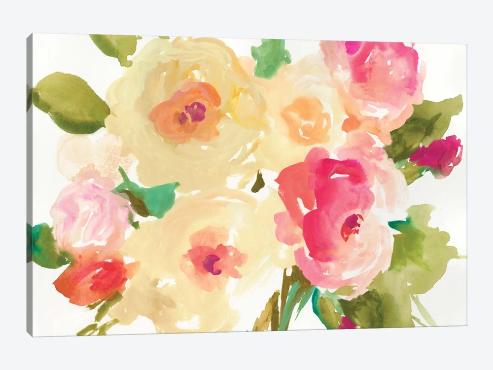 Yellow Roses by Asia Jensen 1-piece Canvas Wall Art