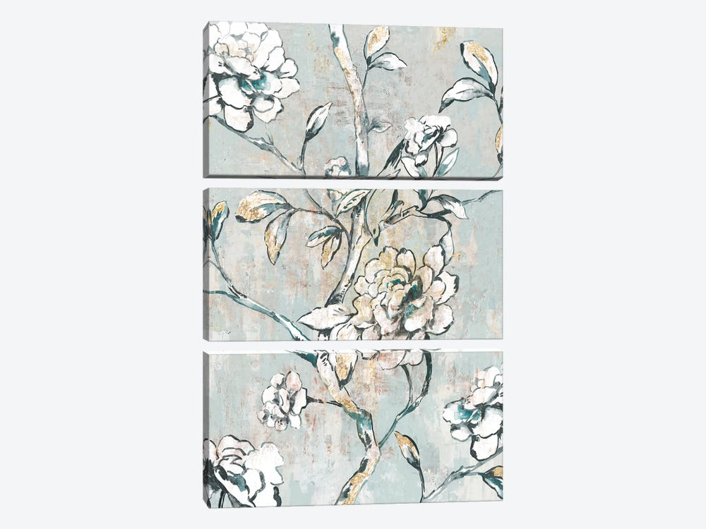 Bold White by Asia Jensen 3-piece Canvas Print
