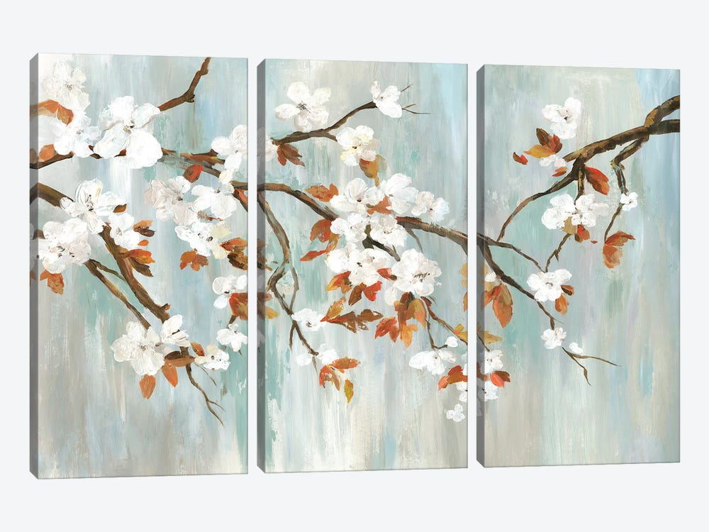 Golden Blooms I by Asia Jensen 3-piece Canvas Art