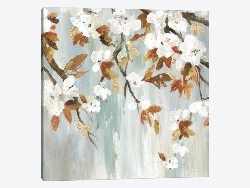 Golden Blooms III by Asia Jensen 1-piece Canvas Artwork