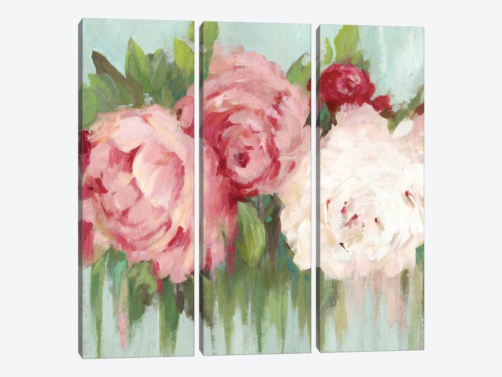 Lovely Peony by Asia Jensen 3-piece Canvas Art Print