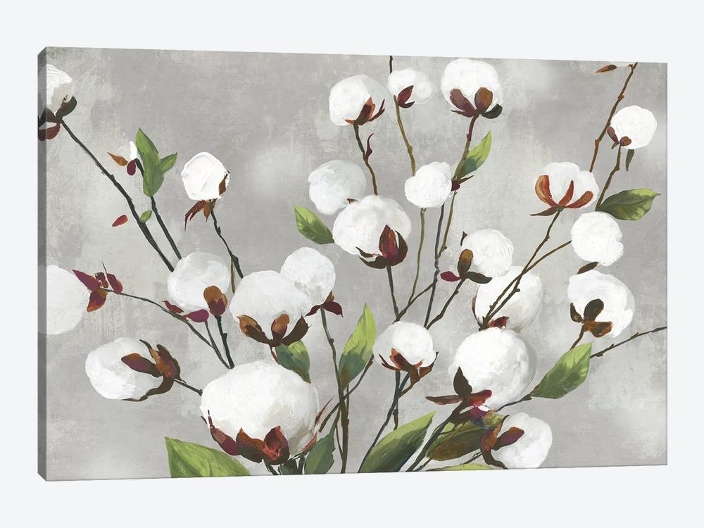 Cotton Ball Flowers I  by Asia Jensen 1-piece Canvas Art Print