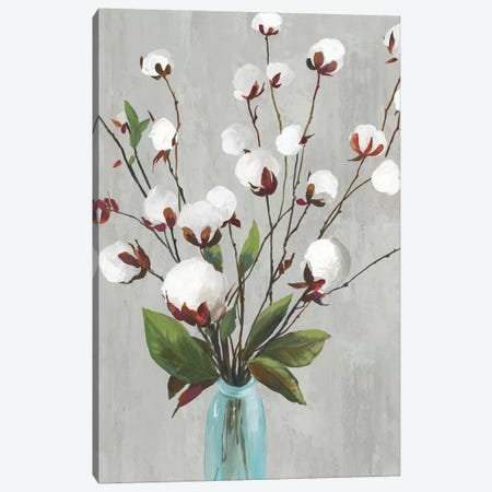 Cotton Ball Flowers II  Canvas Print #ASJ361} by Asia Jensen Canvas Art Print
