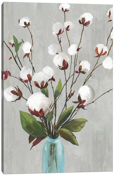 Cotton Ball Flowers II  Canvas Art Print