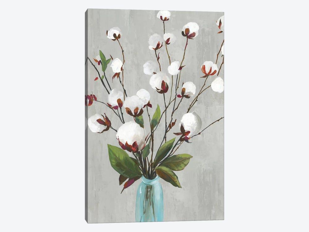 Cotton Ball Flowers II  by Asia Jensen 1-piece Canvas Wall Art