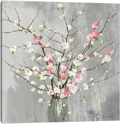 Delicate Pink Blooms  Canvas Art Print