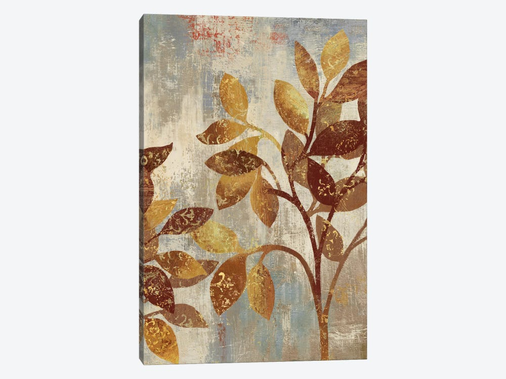 Bronze Leaves I by Asia Jensen 1-piece Canvas Art Print