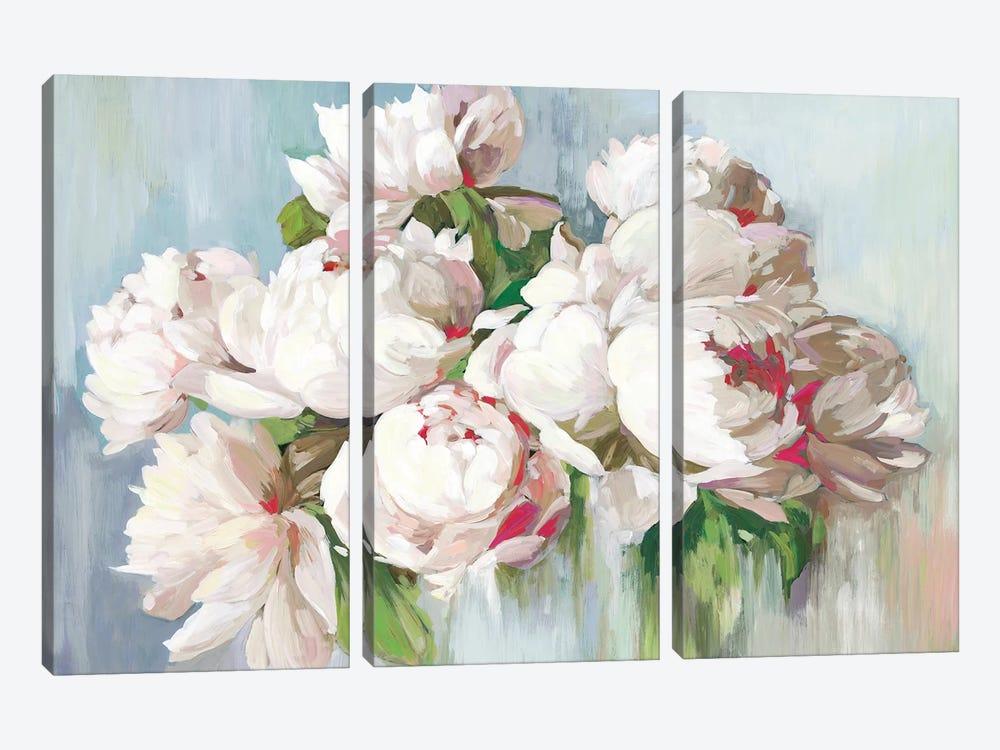 June Flowers  by Asia Jensen 3-piece Canvas Wall Art