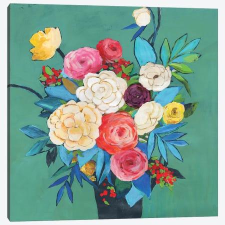 Folk Bouquet  Canvas Print #ASJ373} by Asia Jensen Canvas Art