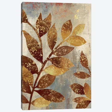 Bronze Leaves II Canvas Print #ASJ37} by Asia Jensen Canvas Artwork
