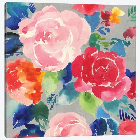 Bright Floral  Canvas Print #ASJ428} by Asia Jensen Canvas Wall Art