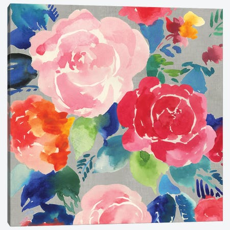 Bright Floral  Canvas Print #ASJ428} by Asia Jensen Canvas Wall Art