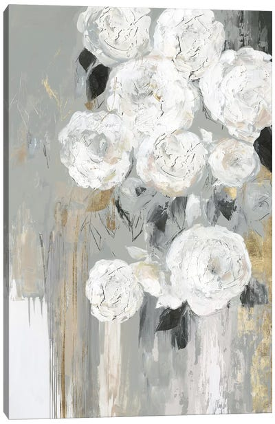 Cascading Gray  Canvas Art Print