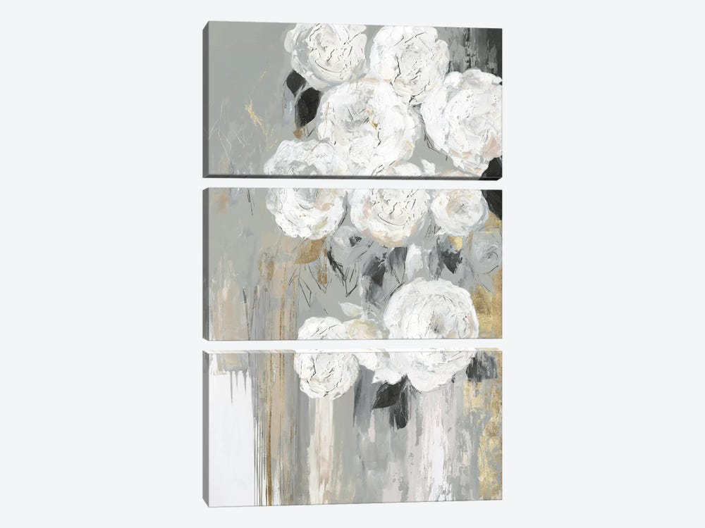 Cascading Gray  by Asia Jensen 3-piece Canvas Print