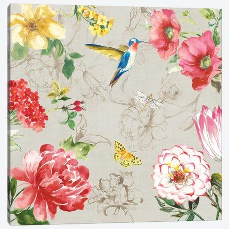 Hummingbird Botanical I Canvas Print #ASJ439} by Asia Jensen Art Print