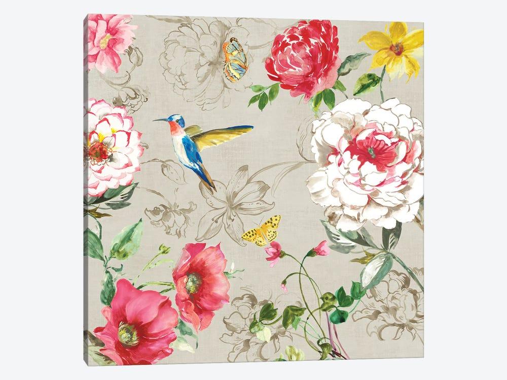 Hummingbird Botanical II by Asia Jensen 1-piece Canvas Artwork