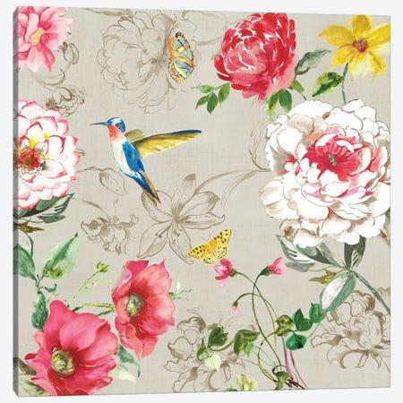 Hummingbird Botanical II Canvas Print #ASJ440} by Asia Jensen Canvas Art