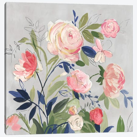 Rose of Summer Canvas Print #ASJ454} by Asia Jensen Canvas Wall Art