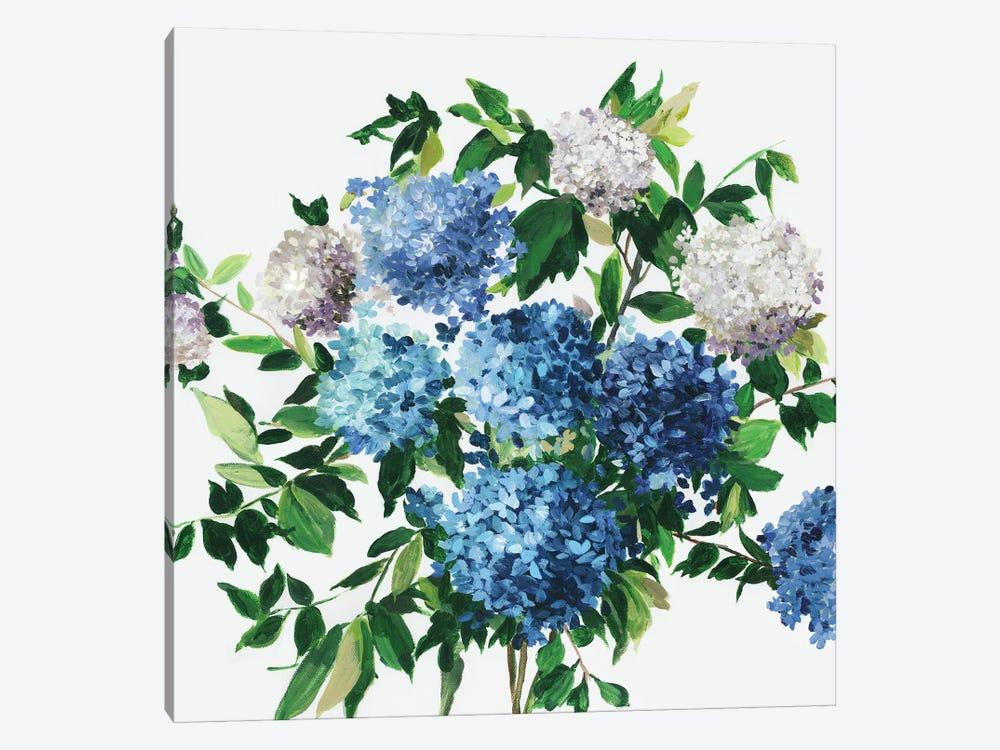 Blue Petals by Asia Jensen 1-piece Canvas Print