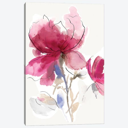 Rosy Bloom I Canvas Print #ASJ503} by Asia Jensen Canvas Print