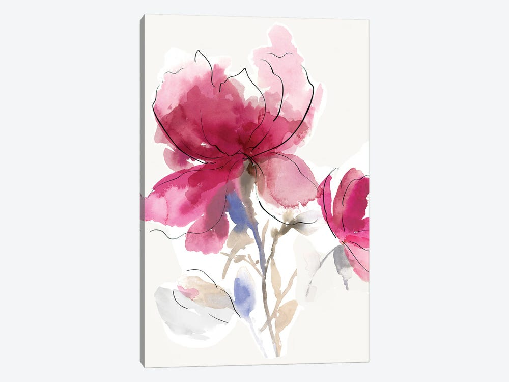 Rosy Bloom I by Asia Jensen 1-piece Canvas Artwork