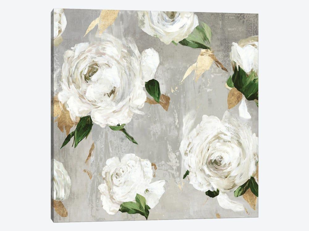 White Peony Garden by Asia Jensen 1-piece Canvas Art Print