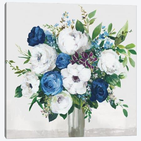 White-Blue Symphony Canvas Print #ASJ523} by Asia Jensen Art Print