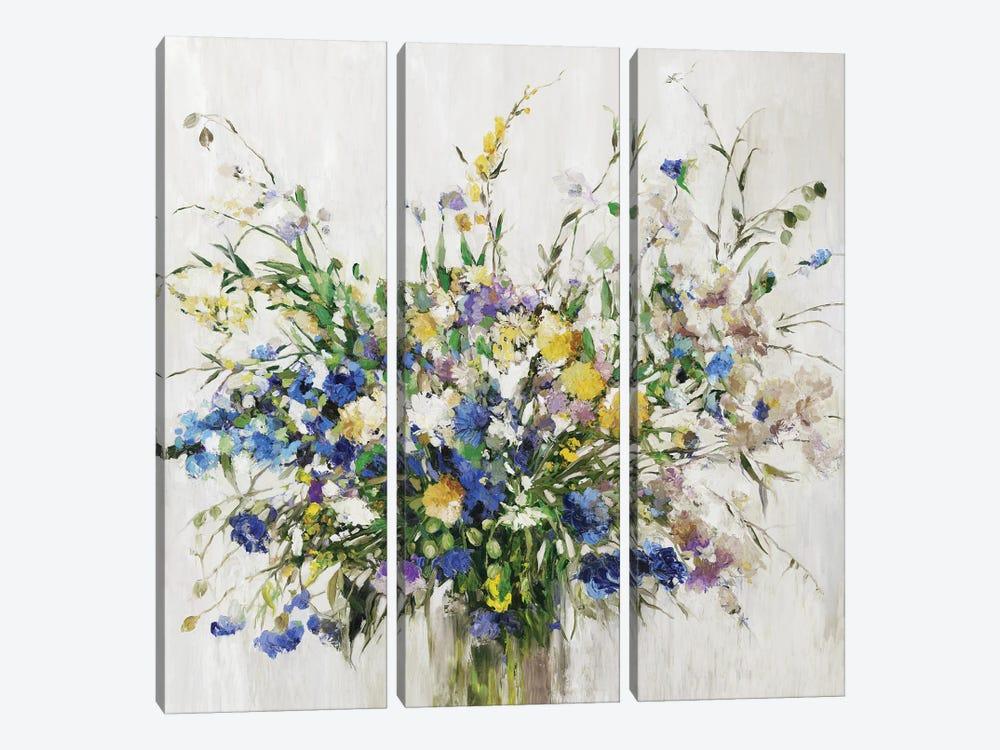 Wild Flower Bouquet by Asia Jensen 3-piece Canvas Art Print