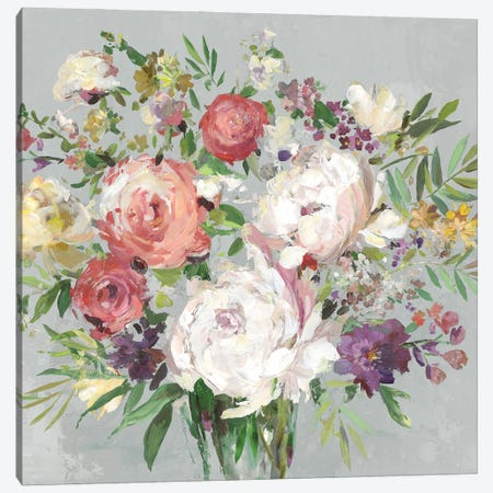 Gray Garden Canvas Print #ASJ539} by Asia Jensen Canvas Wall Art