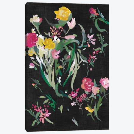 Midnight Blooming Botanicals II Canvas Print #ASJ541} by Asia Jensen Canvas Art Print