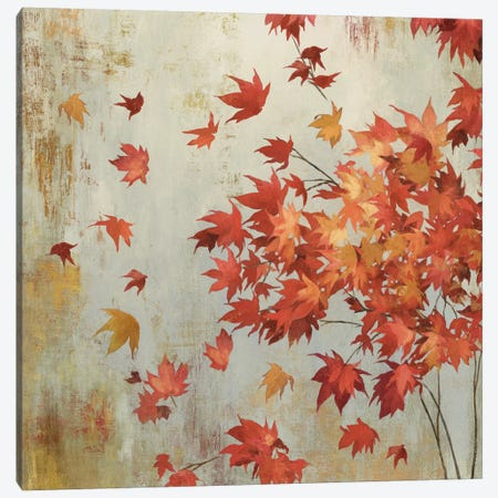Crimson Foliage Canvas Print #ASJ60} by Asia Jensen Canvas Artwork