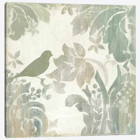Damask Bird I Canvas Print #ASJ62} by Asia Jensen Canvas Art