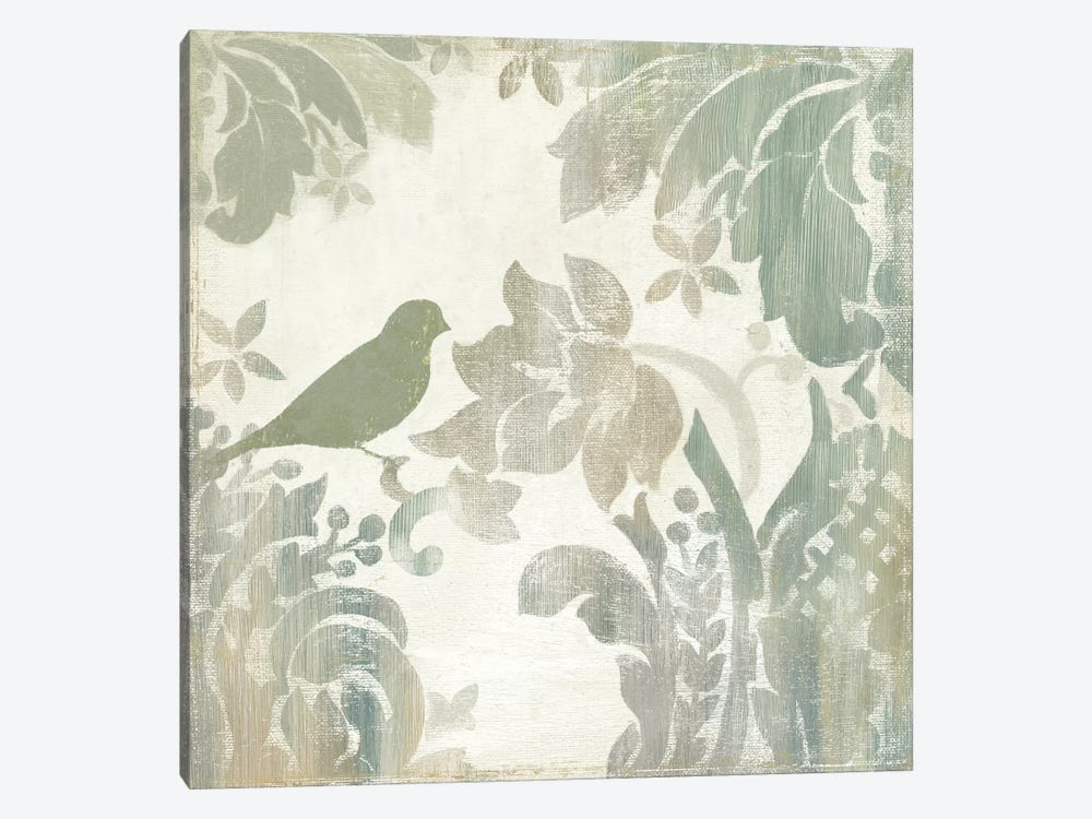 Damask Bird I by Asia Jensen 1-piece Canvas Wall Art