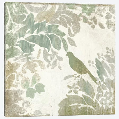 Damask Bird II Canvas Print #ASJ63} by Asia Jensen Canvas Art
