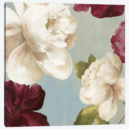 Deep Peonies I, Square Canvas Print #ASJ65} by Asia Jensen Art Print