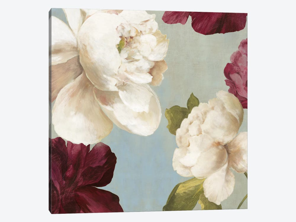 Deep Peonies I, Square by Asia Jensen 1-piece Canvas Print