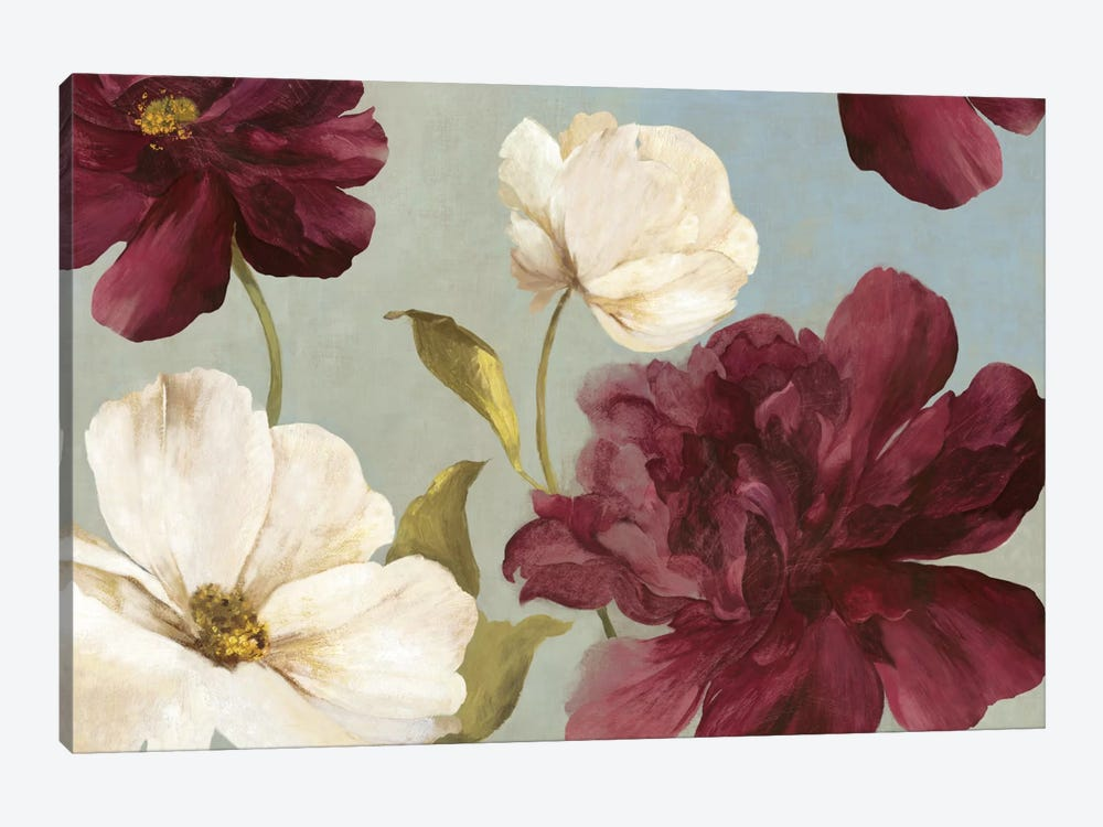 Deep Peonies II by Asia Jensen 1-piece Canvas Artwork