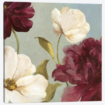 Deep Peonies II, Square Canvas Print #ASJ67} by Asia Jensen Canvas Print