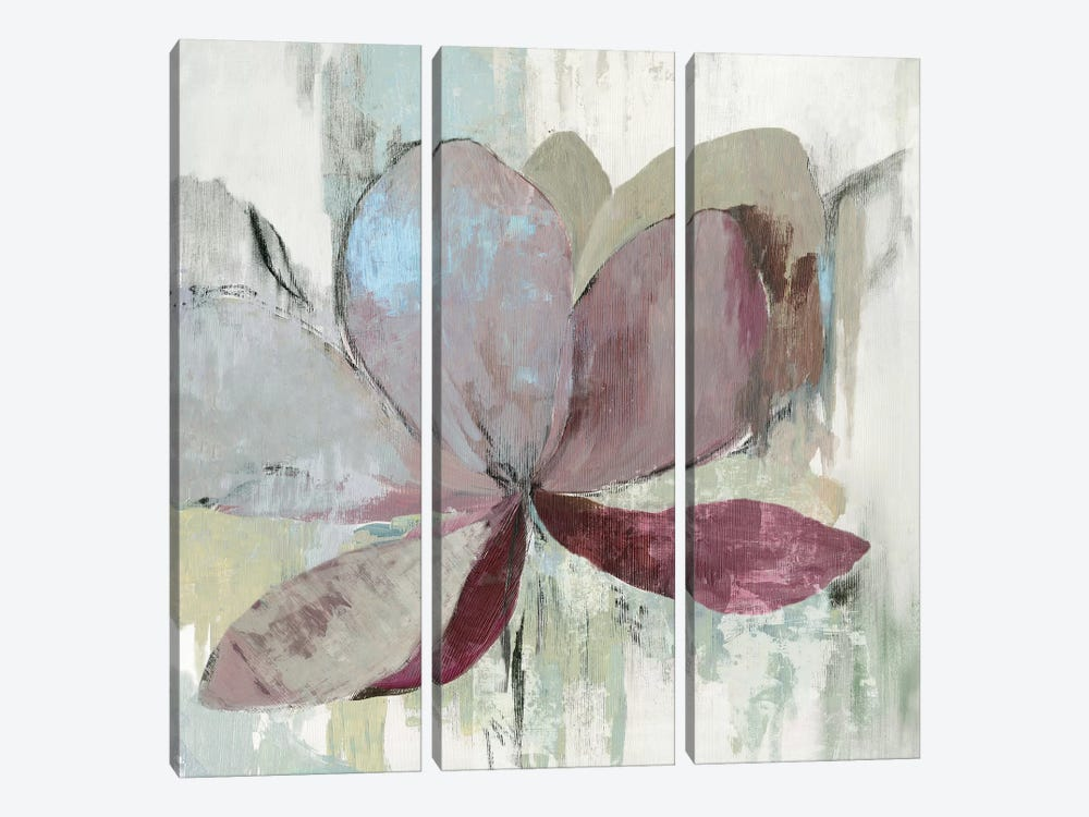 Drippy Floral I by Asia Jensen 3-piece Canvas Print