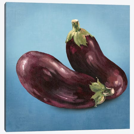 Eggplant Canvas Print #ASJ74} by Asia Jensen Canvas Artwork