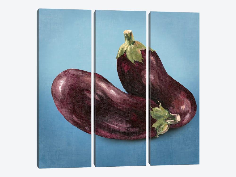 Eggplant by Asia Jensen 3-piece Canvas Art Print